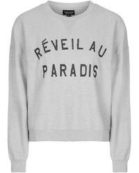 Topshop | Paradise Brushed Sweatshirt | Lyst