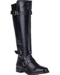Vaneli For Jildor Welle Riding Boot Black Leather - Lyst