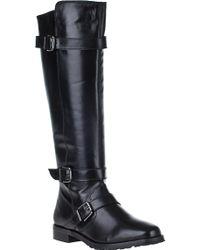 Vaneli For Jildor Welle Riding Boot Black Leather black - Lyst