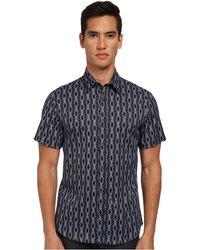 Just Cavalli African Rhapsody Print Short Sleeve Shirt Button Up - Lyst