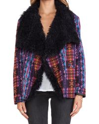 Mink Pink Mystic License Jacket with Faux Fur - Lyst