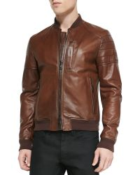 Belstaff Tumbled Lightweight Leather Jacket - Lyst