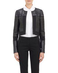 J. Mendel Tweed Crop Jacket - Lyst