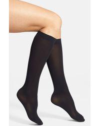 DKNY Microfiber Knee Socks - Lyst