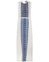 Sea Embroidered Cotton-Voile Maxi Dress - Lyst