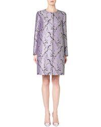 Mary Katrantzou Jq A-Line Coat Lavender - Lyst