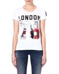 Diesel Graphic Cotton T-Shirt - Lyst