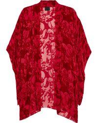 Anna Sui Devoré Velvet Jacket - Lyst