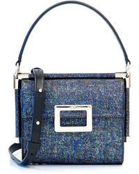 d851337e15 Roger Vivier - Miss Viv Carre Mini Leather Frame Bag - Lyst