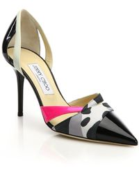 Jimmy Choo Marcine Patent Leather & Printed Leather Pumps - Lyst