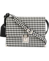 Erika Cavallini Semi Couture - Gingham Check Shoulder Bag - Lyst
