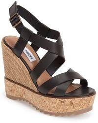 Steve Madden Women'S 'Elllaa' Strappy Wedge Sandal - Lyst