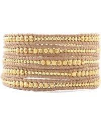 Chan Luu - Gold Mix Wrap Bracelet - Lyst