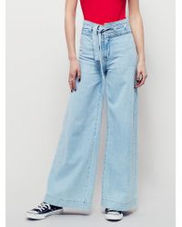 Free People | Womens Augusta Belted Flare | Lyst