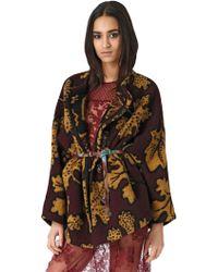 Burberry Prorsum Wool & Cashmere Blend Blanket Coat - Lyst