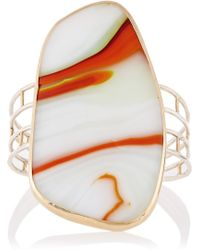 Melissa Joy Manning 14-karat Gold Sterling Silver and Glass Cuff - Lyst