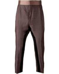 Haider Ackermann Cropped Panelled Trousers - Lyst