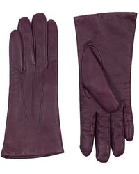 Harrods Cashmere Lined Leather Gloves - Lyst