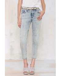 A Gold E | Sophie Acid Wash Cropped Skinny | Lyst