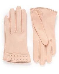Alexander McQueen - Stud Cuff Short Leather Gloves - Lyst
