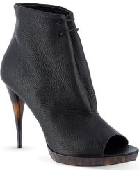 Burberry Jenkin Leather Ankle Boots Black - Lyst