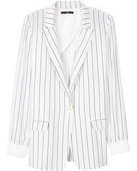 Tibi Striped Silk Blazer - Lyst