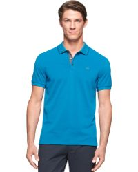 Calvin Klein Wicking Pique Collar Tipped Polo - Lyst