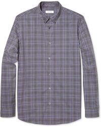 Calvin Klein Gingham Heather Slim-fit Shirt - Lyst