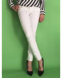Sold Denim Soho Super Skinny white - Lyst