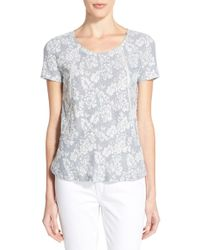 Hinge Embroidered Floral-Print Top - Multicolour