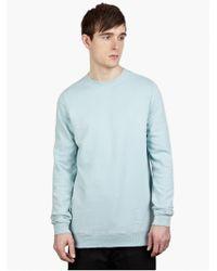 DRKSHDW by Rick Owens Men'S Sky Cotton Sweatshirt blue - Lyst