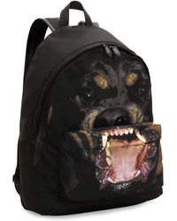 Givenchy Rottweiler Nylon Backpack - Black