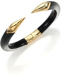 Alexis Bittar Lucite Mirrored Talon Cuff Bracelet/black - Metallic