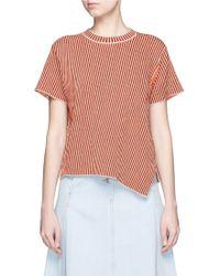 Acne | 'jana Stripe' Splatter Floral Jacquard Knit Top | Lyst
