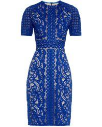 Lover Poppy Japanese-Lace Dress blue - Lyst