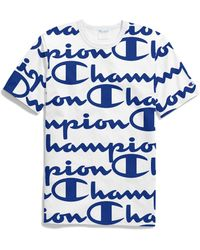 Champion - Life All-over Script Logo Tee - Lyst
