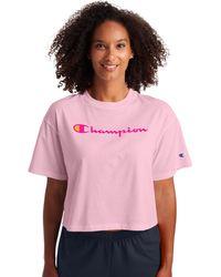 Champion Athletics Cropped Tee - Pink