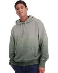 Champion - Athletics Powerblend Fleece Ombre Hoodie Army - Lyst