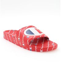 Champion Life Slide Sandals - Red