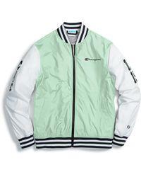Champion Life® Baseball Jacket, Multi C Logo Patches - Green