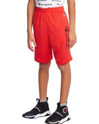 Champion Kids' Athletics Mesh Shorts - Red