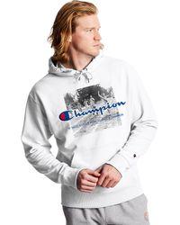 Champion Athletics Powerblend Fleece Hoodie - White