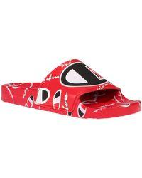 Champion Little Kids' Super Slides - Red