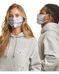 Champion Exclusive Adult Lay Flat Face Mask - Gray