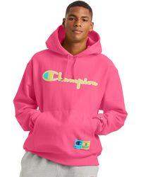 Champion Life Reverse Weave Hoodie - Pink