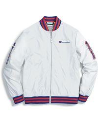 Champion Life® Baseball Jacket, Multi C Logo Patches - Multicolor