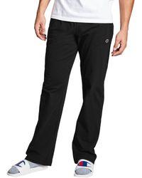 Champion Athletics Open Bottom Jersey Pants - Black