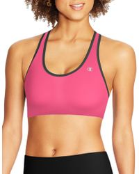 750256640a33f Lyst - Champion The Absolute Comfort Print Sports Bra in Pink