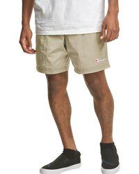 "Champion Sport 6"" Nylon Warm Up Shorts - Natural"