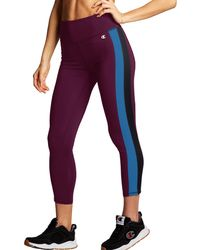 Champion Phys Ed High Rise Taping Tights - Purple